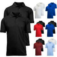 DBFL Oscar Sport Men's 2 Pack Short Sleeve Mesh Polo Shirt