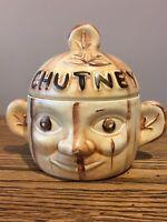 Vintage Two Faced Chutney Pot. Price Kensington England. Cream/Brown Matt Glaze.