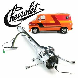"1964-81 Chevy G-Series Van 33"" Chrome Steering Column Auto Shift 283 bus hi-cube"