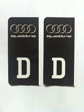 D-Sticker Autoaufkleber Kennzeichen Wappen Audi quattro schwarz  NEU