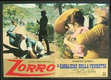 CINEMA-fotobusta ZORRO, IL CAVALIERE DELLA VENDETTA quiney, longo, basil, MERINO