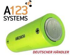 A123 Systems LiFePo4 Einzelzelle ANR26650M1B 2500mAh 3,3V - 100% Original  - 70A