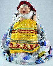 "VTG RUSSIAN TEA COZY Cosy DOLL TEAPOT Grandma (""BABA/Babushka"")."