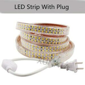 LED Strip Light 5730 SMD 110V 240LEDs/m Flexible Wire Rope Lamp IP67 Waterproof