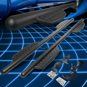 """For 09-14 Ford F150 Super Crew Cab 3"""" Aluminum Round Tubing Side Step Nerf Bars"""