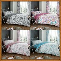 Duvet Covers Covers Reversible Bedding Sets With Pillow Cases (Florence Paisley)