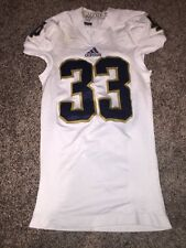 Notre Dame 2013 Football Away White Cam McDaniel #33 Game Used Jersey M Techfit