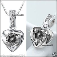 Stunning 925 Silver Crystal Necklace Gifts For Her Mum Mother Day Daughter Women