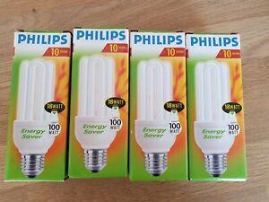 Philips Energy Saver - 18W Genie - 1100 Lumen - A Rated - 4 Pieces Edison Screw
