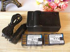 2 un. Batería + Cargador Para Videocámara Jvc BN-VF808U BN-VF815U BN-VF808 GZ-MS95