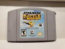 Nintendo 64 N64 Star Wars Episode 1 Battle for Naboo - Tested