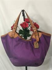 Dooney & Bourke Purple Nylon w. Leather Trimmed Large Shoulder Tote Bag