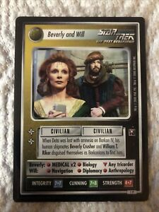Star Trek CCG Beverly and Will light-play (see photo) Promo – Enhanced Premiere
