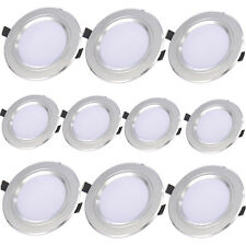 10Pcs 21W Round LED Recessed Ceiling Panel Downlight Spot Light Lamp Warm White