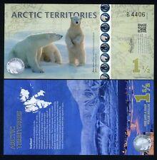 Arctic Territories, $1 1/2, 2014, Polymer, UNC Polar Bears