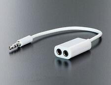 Klinken Y Kabel Verteiler Splitter stereo 3,5 mm 4- polig für Smartphones Tablet