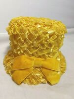 Vintage Sears Millinery Women's Bucket Hat Yellow Union Made in USA