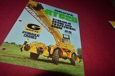 Grove RT625 Hydraulic Crane Dealer's Brochure DCPA6