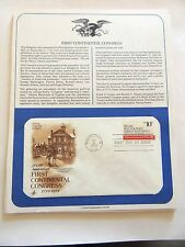"""July 4th, 1974 200th Anniversary """"First Continental Congress"""" First Day Issue"""