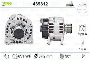 Valeo Alternator 439312 fits Volkswagen Polo 1.4 (6N) 55kw, 1.4 (9N) 55kw, 1....