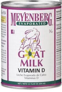 12 Cans Box Meyenberg Evaporated Goat Milk (12 Oz. 354 Ml. Each Can)