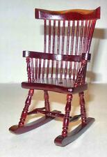 VINTAGE WINDSOR ROCKER MAHOGANY #652 DOLLHOUSE FURNITURE MINIATURES