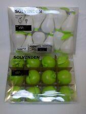 102.972.13 Ikea Solvinden Apple Led String Lights Pear 502.972.06 Set LOT LED