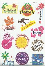 "Sticker Decal Aufkleber Set ""Travel-Mix"" (5) - Ideal für Koffer, Laptop, ..."