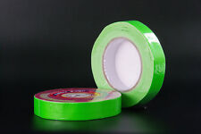 "1"" Gaffer Tape. FLUORESCENT GREEN. 26 Yard Roll. 3"" Core.  Natural Adhesive"