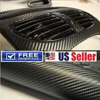 4D GLOSSY Carbon Fiber Vinyl Wrap DIY Sticker Decal Film 4ftx5ft Air Bubble Free