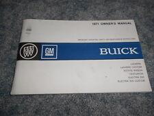 1971 BUICK LeSABRE ELECTRA 225 WAGON OWNER's GLOVE BOX MANUAL ORIGINAL NICE