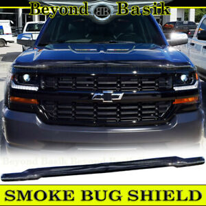 2016-2018 Chevy Silverado 1500 SMOKE Bug Shield OE Style Hood Guard Protector