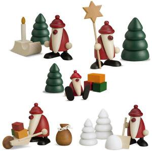 Björn Köhler Miniatur Weihnachtsmann Set klein Auswahl Fachhandel Erzgebirge