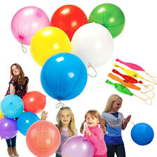 """100 Rubber Punch Balloons Assorted Colored 10"""" Birthday Party Favor Balloons"""