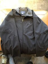 Large Colombia Mens Soft Shell Rain Jacket Black Excellent Condition