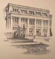 b. 1875 FREDERICK POLLEY Lithograph INDIANAPOLIS Shortridge High School INDIANA