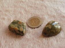 Riolita piedra semipreciosa (lote de 2)