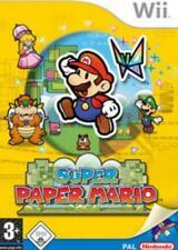 Nintendo Wii +Wii U SUPER PAPER MARIO DEUTSCH Top Zustand