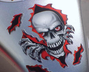 SKULL DECAL for Harley Davidson Sportster Softail Road King Electra Dyna Glide