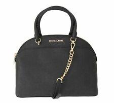 Michael Kors Large Dome Emmy Saffiano Leather Satchel Handbag - Black