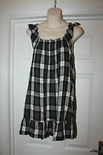Ladies BLack, White and Grey New Look Tunic Dress Top Size 8