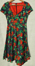 Moss & Spy Womens Size 10 Rose Garden Fit and Flare Retro Pin Up Tea Dress