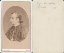 Monseigneur Masmillon, Lorette CDV vintage albumen,  Tirage albuminé  6,5x10