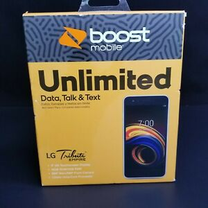 Boost Mobile LG Tribute Empire 16GB Prepaid Smartphone Silver Brand New in Box