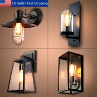 Retro Vintage Outdoor Wall Lamp Lantern Sconce Light Fixture Garden Porch Decor