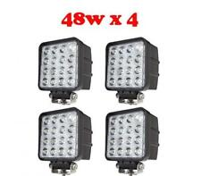 4X Foco led 48W 12v/24v 6000K 3200lm, barco, jeep 4x4, camión, tractor, coche