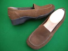 LADIES PLANET SHOES BROWN SUEDE LEATHER LOW HEEL SHOES  SIZE 9.5