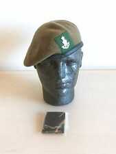 British Army-Issue Green Howards Beret, Badge & DPM Slides. Size 58cm.
