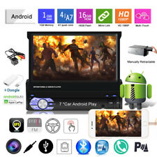 7''1 Din GPS Android Car Radio+Carplay+CAM Wifi Mirror Link FM BT Touch Screen