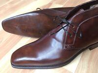 Santoni Burnished Chukka Ankle Boots Goodyear Sz UK 11, US 11.5 D $1200 *